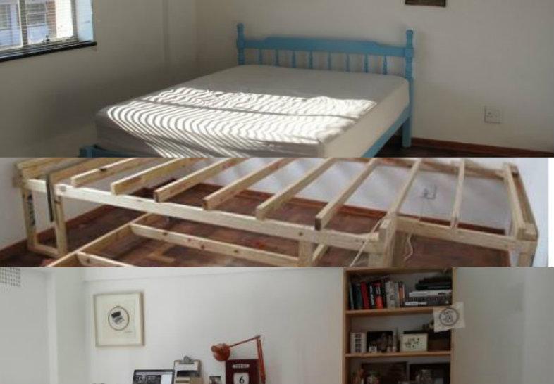 Ecco come rendere una semplice camera in una stanza con for Camera ospiti e studio