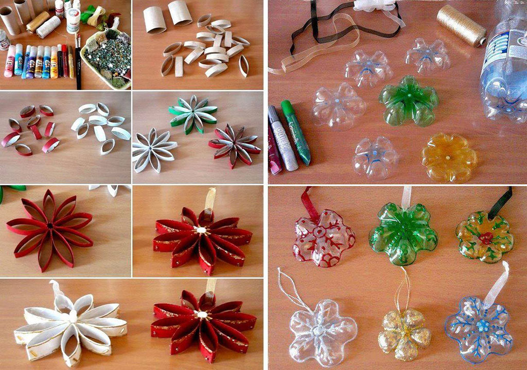 30 idee con tutorial per delle decorazioni realizzate solo for Making of decorative item from waste material